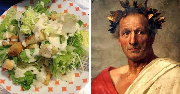 sezar salatası nı kim buldu
