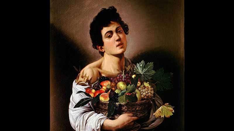 meyve sepetli çocuk